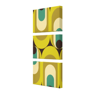 retro mod gallery wrapped canvas