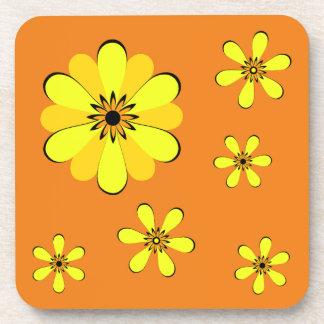 RETRO MOD FLOWER POWER COASTERS