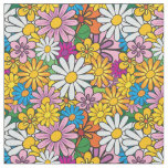 Retro Mod Flowers Fabric