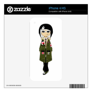 Retro Mod Girl in Shades Skins For iPhone 4S