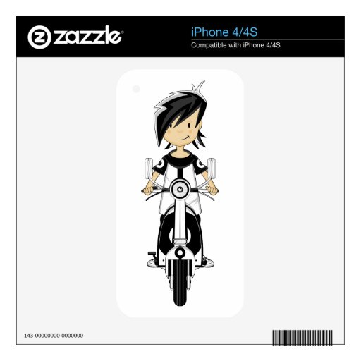 Retro Mod Girl on Scooter Skin Skin For The iPhone 4