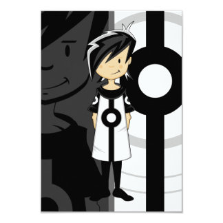 Retro Mod Girl RSVP Card