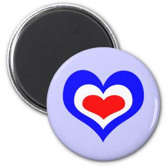Retro Mod Heart Magnets
