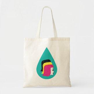 Retro Mod Lady Heads Drop Tote Bag