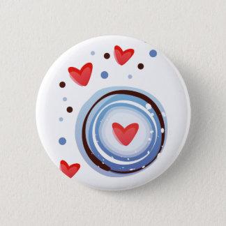 Retro Mod Love Circle Button