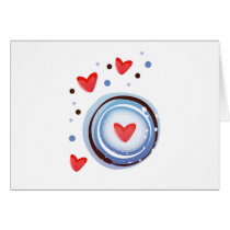 Retro Mod Love Circle Card