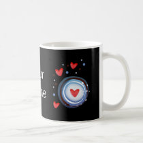 Retro Mod Love Circle Coffee Mug