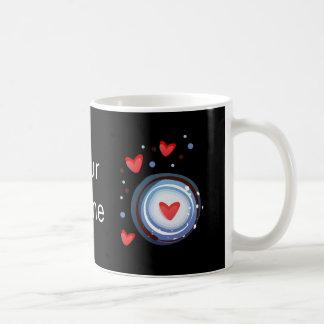 Retro Mod Love Circle Coffee Mug