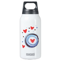 Retro Mod Love Circle Insulated Water Bottle