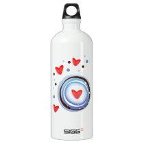 Retro Mod Love Circle Water Bottle