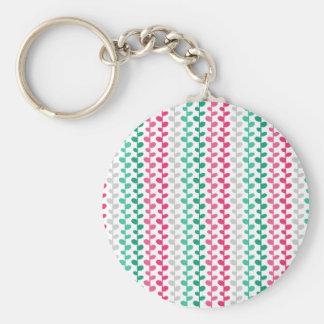 Retro Mod Multicolored Leaf Pattern Key Chains