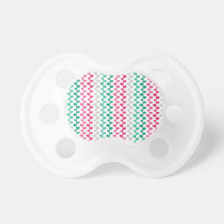 Retro Mod Multicolored Leaf Pattern Pacifiers