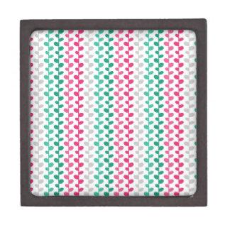 Retro Mod Multicolored Leaf Pattern Premium Gift Box