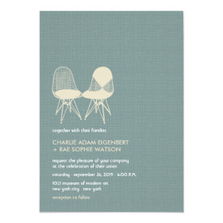 Retro Mod Perfect Chair Pair Eames Wedding Invite