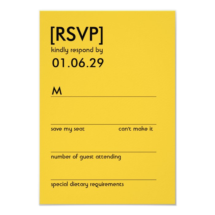 Retro Mod Perfect Chair Pair Eames Wedding RSVP Card