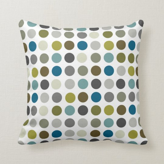 Retro Mod Polka Dot Pattern Throw Pillow Zazzle Com
