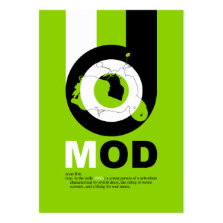 Retro Mod Scooter Bookmark Business Card Templates