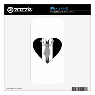 Retro Mod Scooter Heart iPhone 4 Skin