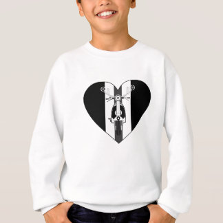 Retro Mod Scooter Heart Sweatshirt