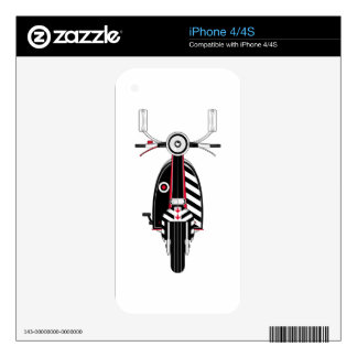 Retro Mod Scooter iPhone 4S Decal