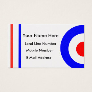 Retro Mod Scooter Personal Contact Card