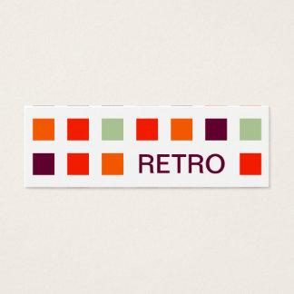 RETRO (mod squares) Mini Business Card