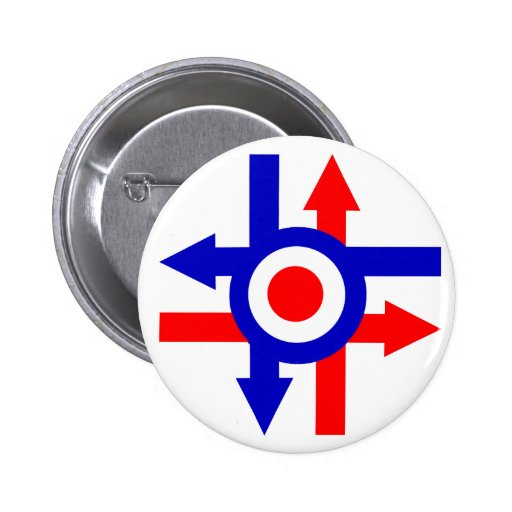 Retro Mod target and Arrows design Pinback Buttons