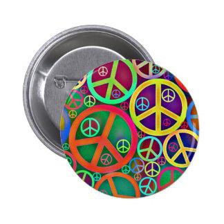 Retro Mod Vintage Peace Pinback Button