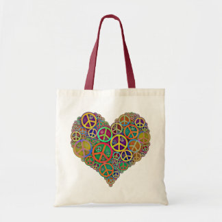 Retro Mod Vintage Peace Tote Bag