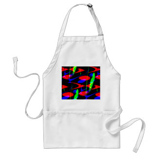 Retro Modern Abstract Adult Apron