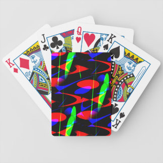 Retro Modern Abstract Bicycle Playing Cards