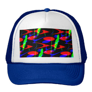 Retro Modern Abstract Mesh Hat