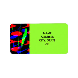 Retro Modern Abstract Address Label