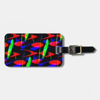 Retro Modern Abstract Luggage Tags