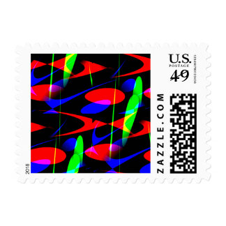 Retro Modern Abstract Postage Stamps