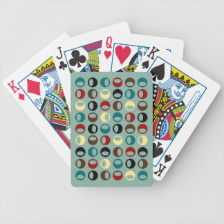 Retro Modern Abstract Spheres Playing Cards