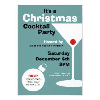 Retro Modern Christmas Party Invitation