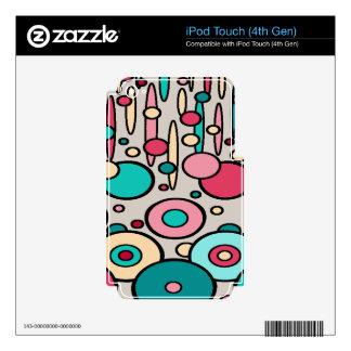 Retro Modern Circles iPod Touch 4G Skin