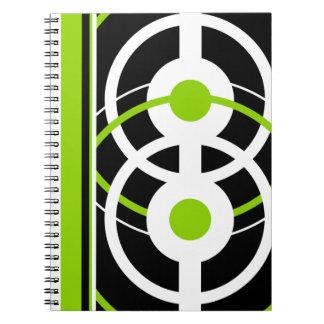 Retro Modern Circles Note Book