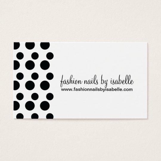 Retro Modern Dots (Black & White) Business Cards