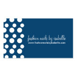 Retro Modern Dots (White & Blue) Business Cards