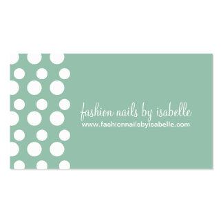 Retro Modern Dots (White & Jade) Business Cards