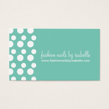 Professional Business Retro Modern Dots (White & Mint) Business Cards