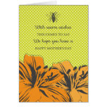 Retro Modern Flowers Mother's Day Card