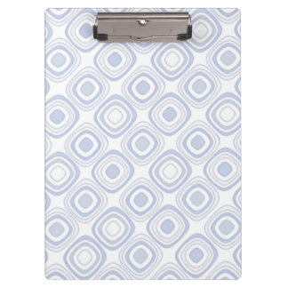 Retro Modern Geometric Shapes in White and Blue Clipboard