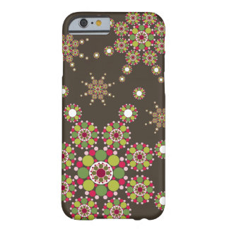 Retro Modern Holiday Christmas Star Phone Cover Barely There iPhone 6 Case