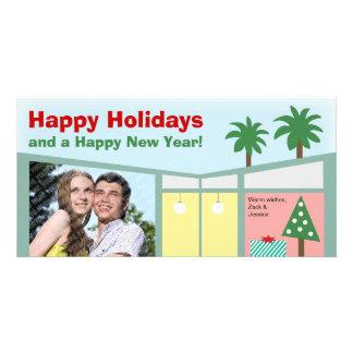 Retro Modern Home Holiday Photo Card