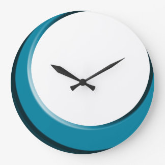 white and blue kitchen wall clocks | zazzle
