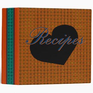 Retro Modern Orange & Aqua Recipe Binder