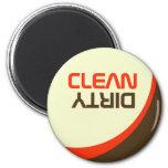 Retro Modern Orbit Clean/Dirty Dishwasher Magnet Refrigerator Magnets